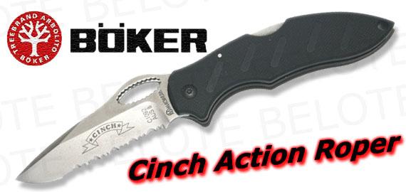 Boker Cinch Action Roper Serrated Folder 01ci092 New Ebay