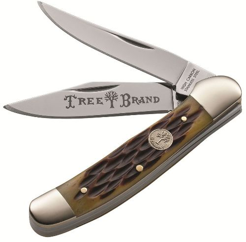 BOKER PLUS Tree Brand Copperhead Jigged Brown Two Blade