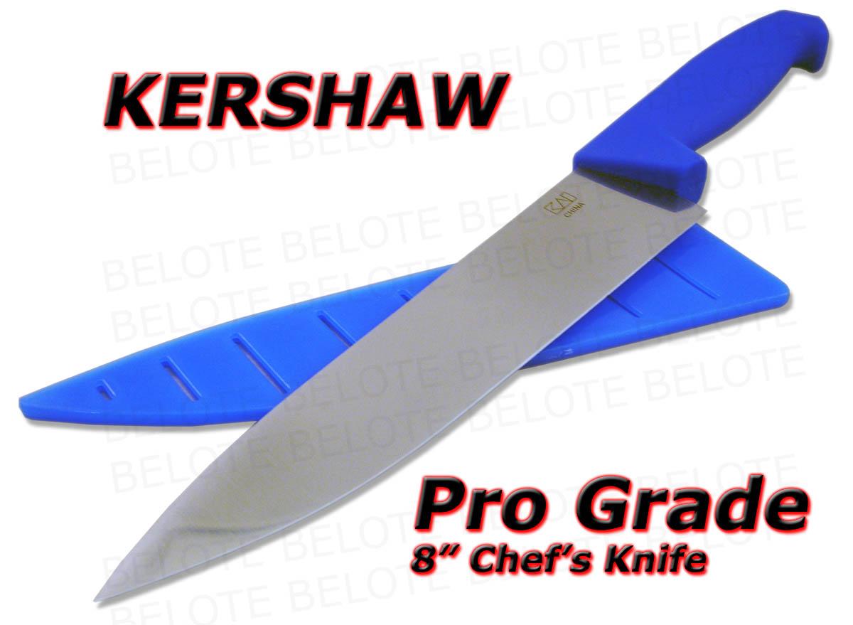 kershaw pro grade 8 chef 39 s knife w edge guard 1288 ebay. Black Bedroom Furniture Sets. Home Design Ideas