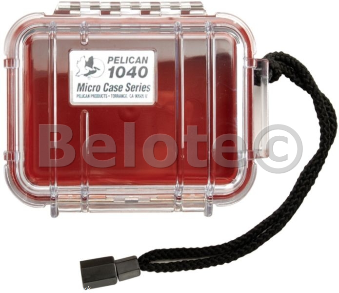 Pelican Micro Case Red Clear 1040 New 7 5 X 5 X 2 1