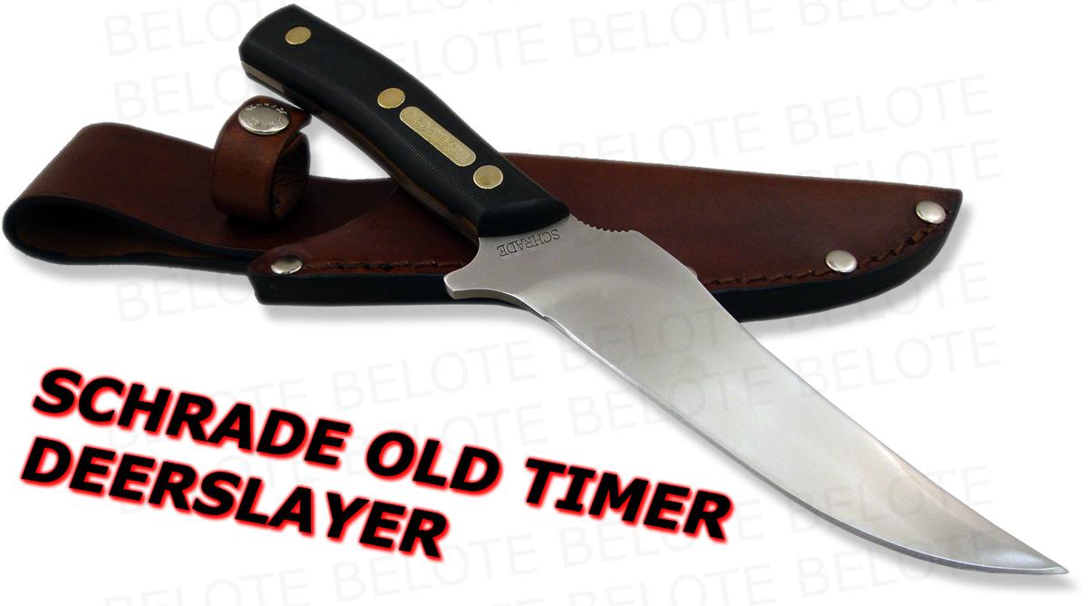 Schrade Old Timer Delrin Deerslayer W Sheath 15ot New Ebay