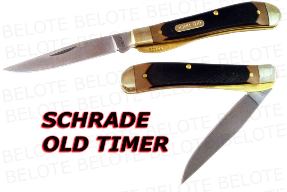 Schrade Old Timer Delrin Gunstock Trapper Knife 194ot Ebay