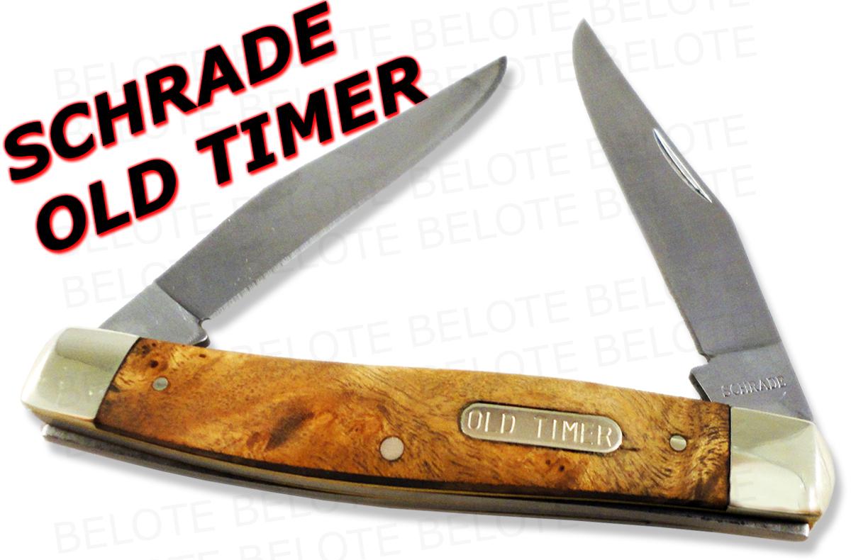 Schrade Old Timer Muskrat 2 Blade Knife Ironwood 77otw Ebay