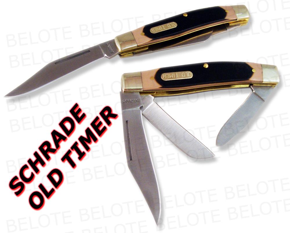 Schrade Old Timer Senior 3 Blade Pocket Knife 8ot New Ebay
