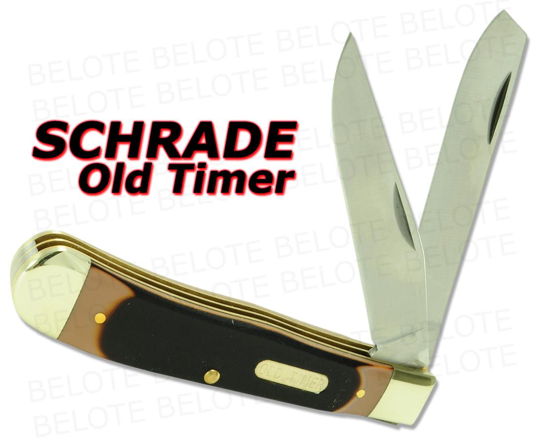 Schrade Old Timer Delrin Lrg Trapper 2 Blade Knife 95ot Ebay