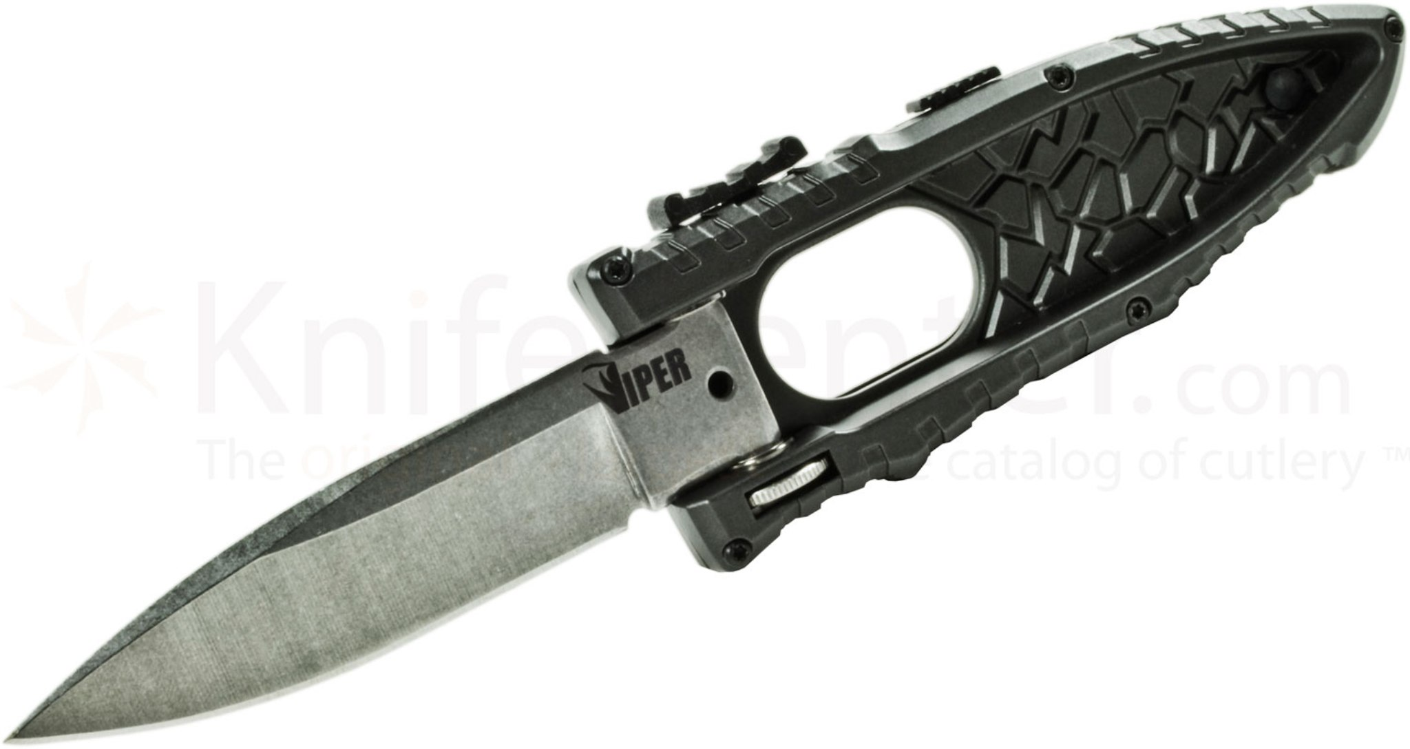 Schrade Viper Side Assisted Drop Point Folding Knife Plain