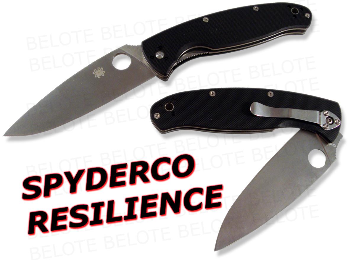 Spyderco Resilience G 10 Handle Plain Edge Knife C142gp Ebay