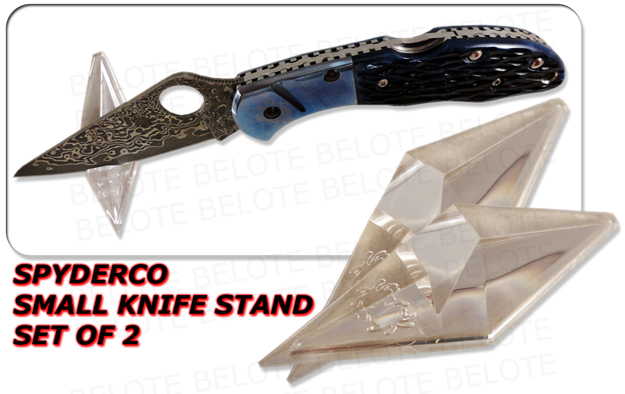 Spyderco Set Of 2 Small 2 5 Quot Acrylic Knife Stands Ct02 Ebay