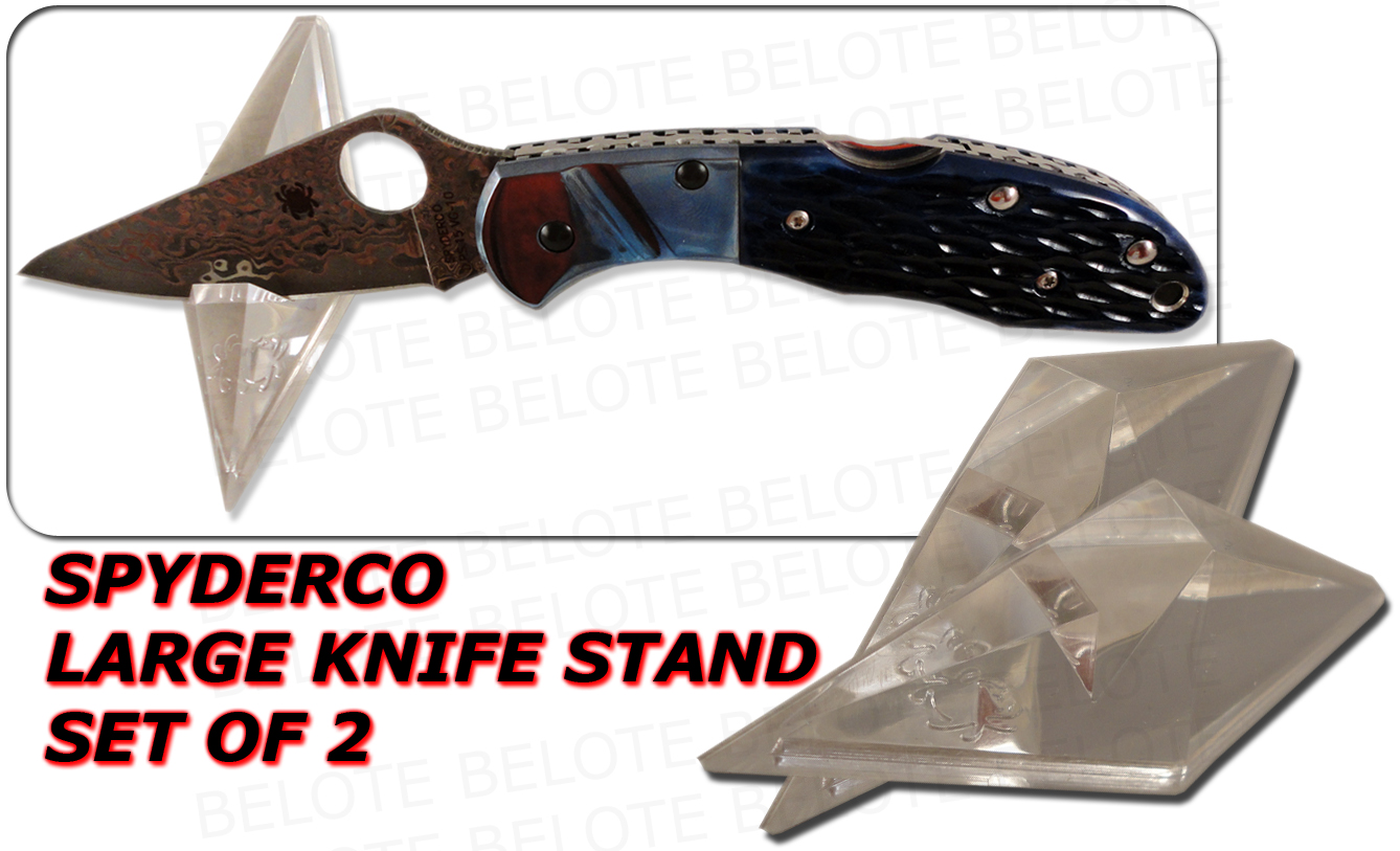 Spyderco Set Of 2 Large 3 5 Quot Acrylic Knife Stands Ct03 Ebay