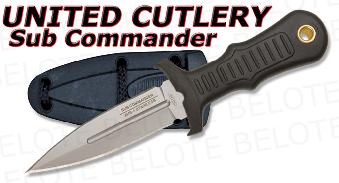 United Cutlery Sub Commander Silver Mini Boot Knife Uc2725