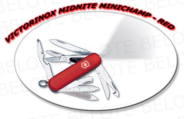 Victorinox Swiss Army Knife Midnite Minichamp Red 53976 Ebay