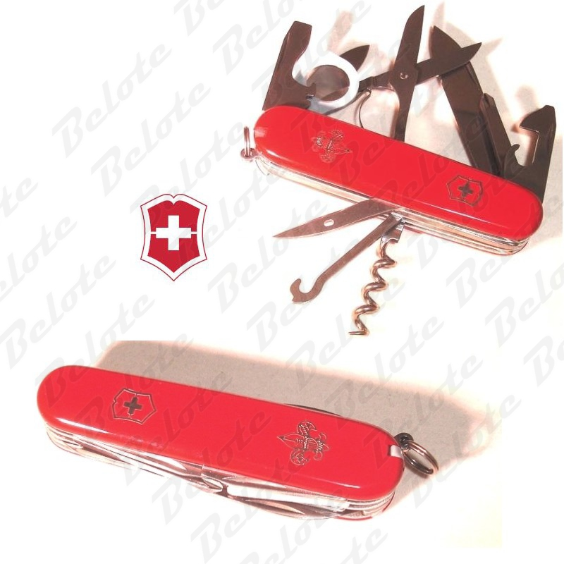 Victorinox Swiss Army Explorer Boy Scout Knife Red Bsa
