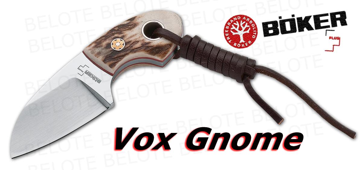 Boker Plus Voxknives Gnome Stag W Sheath 02bo268 New Ebay