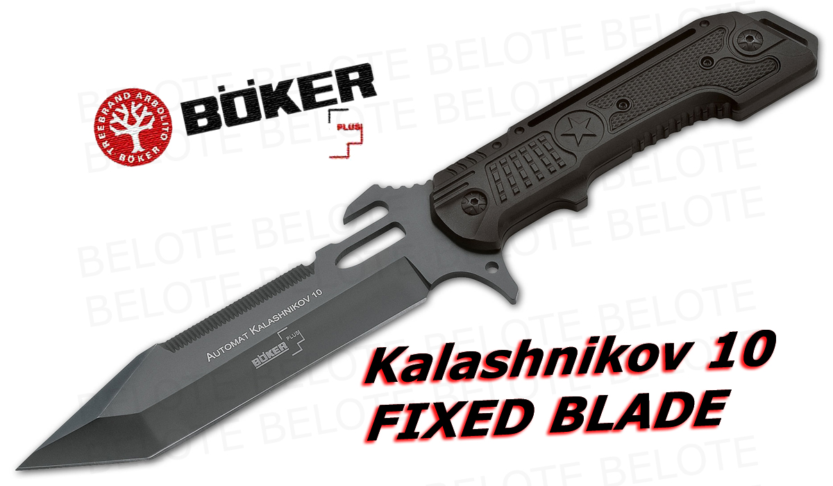 Boker Plus Kalashnikov 10 Fixed Blade W Sheath 02kal10