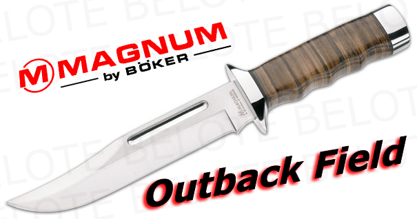 Boker Magnum Outback Field W Leather Sheath 02mb704