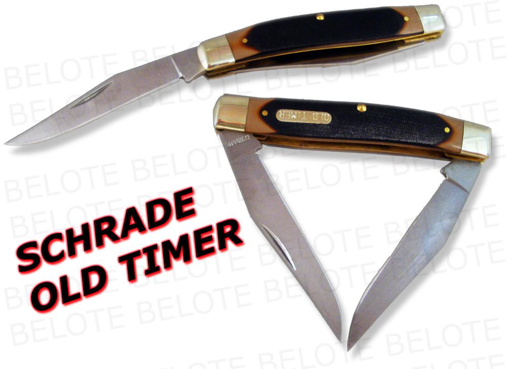 Schrade Old Timer Delrin Muskrat 2 Blade Knife 77ot New