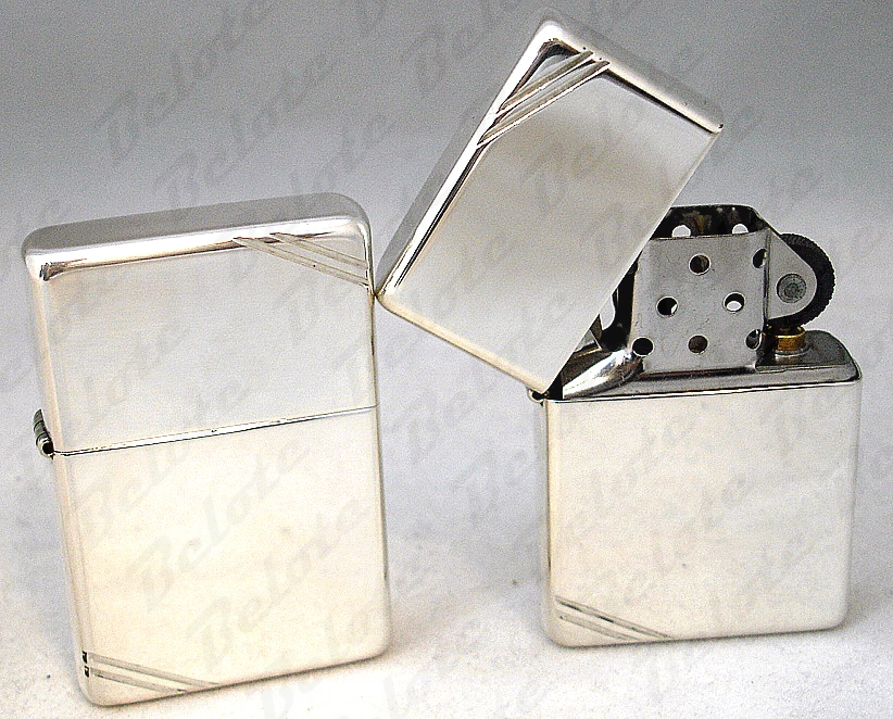 59c2d41fb80a3 Details about Zippo Vintage High Polish Sterling Silver Lighter # 14